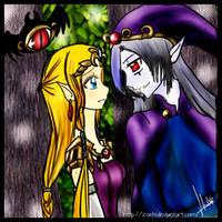 Zelda and Vaati by Zoehi