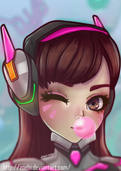 D.VA Overwatch by Zoehi