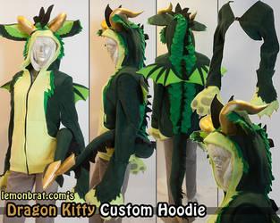 Dragon Kitty Custom Hoodie by lemonbrat