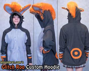 Glitch Roo Custom Hoodie by lemonbrat
