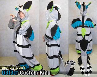 D3f3ct Custom Kigurumi by lemonbrat