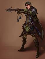 Commission: Lisa Bartin, Bounty Hunter by asphillipsart