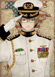 APH - Navy Captain USA by mandachan