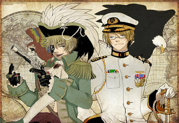 APH - Pirate Arthur and Navy Alfred by mandachan