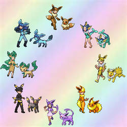 Eeveelution Trainers by EeveeFreak