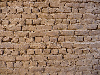Mudbrick wall by Lemondjinn