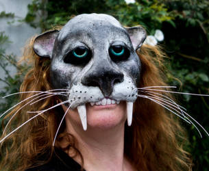 Jaguar half-mask by Lemondjinn