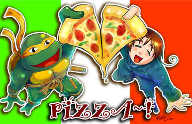 PIZZA!! by meomeoow