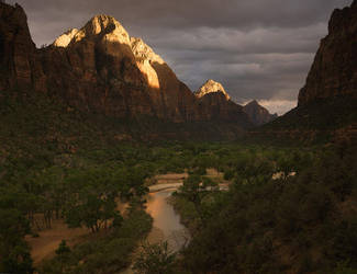 Storm Light, Gates of Zion by michaelanderson