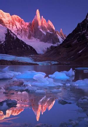 Crimson Crags. Cerro Torre, Patagonia by michaelanderson