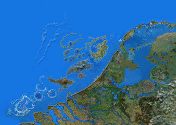 Zoomable map artificial Dutch islands by taisteng