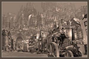 Huy Jorsaleem, steampunk city by taisteng