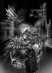 Celestial City in Black and white by taisteng