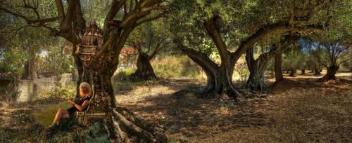 Een paleis tussen de boomtakken by taisteng