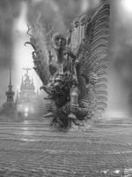 Riding Garuda by taisteng