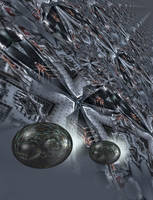 The ten mile long starship by taisteng