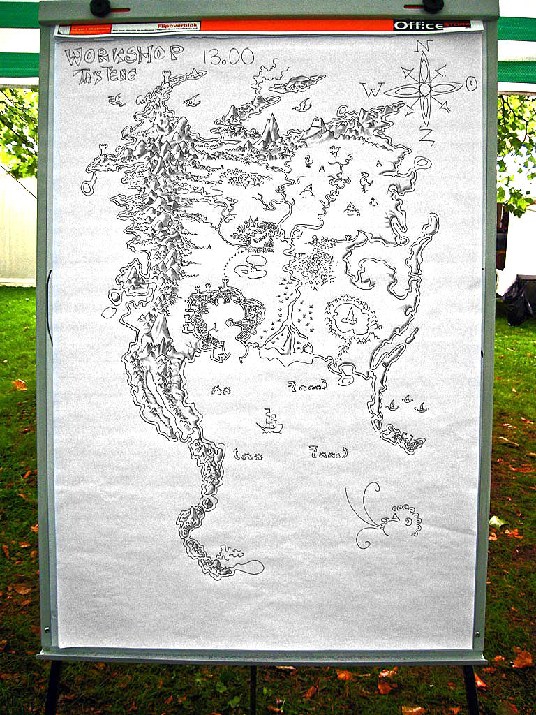 Hand-drawn map Tolkien style by taisteng