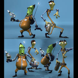 Brett Bean's Phil and Mantis 3D Character Models by harveyhesko
