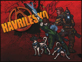 Havrilesko: Borderlands (Themed Family Portrait) by harveyhesko