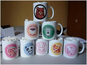 Pandaka Mugs! by Silveril