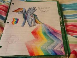 Confindent Rainbow Dash by QueenMoonlight101