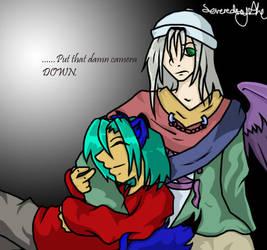 VxM - Cuddles Coloured by severedscythe