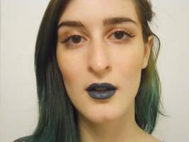 Blue Grey Lips by drblahphotography