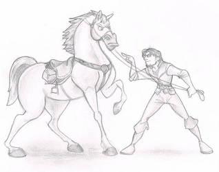Maximus and Flynn by GeekyAnimator