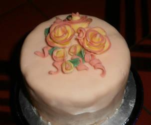 Rachel's 21st Birthday cake by DragonDew