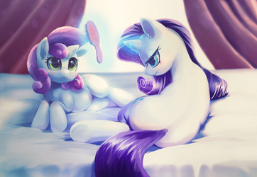 Rarity Sweetie Belle by Apricolor