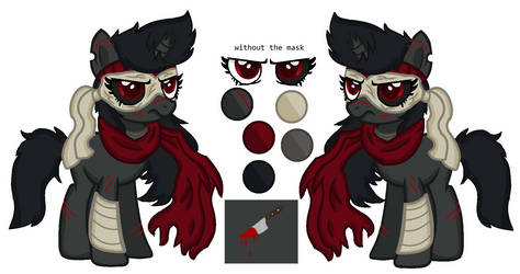 Mlp assassin - (Chi) reference sheet by CreativePony7