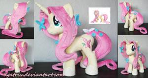 Unicorn Fluttershy plush by agatrix