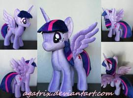 Alicorn Twilight Sparkle plush by agatrix