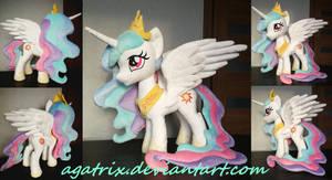 Princess Celestia plush by agatrix