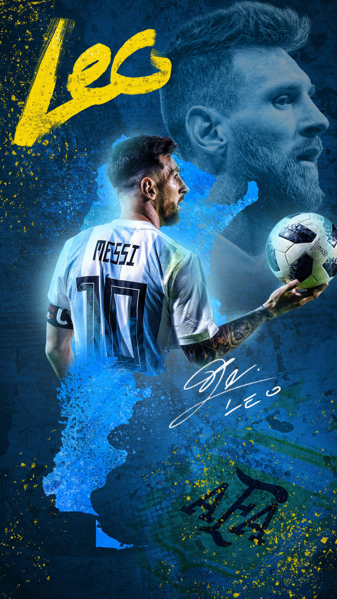 Lionel Messi World Cup 2018 Phone Wallpaper by GraphicSamHD