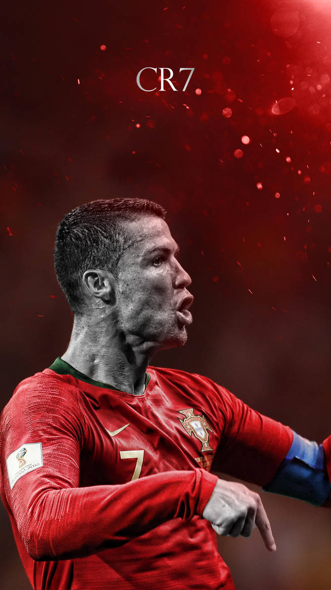 Cristiano Ronaldo World Cup 2018 Phone Wallpaper by GraphicSamHD