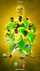 Brazil World Cup 2018 Phone Wallpaper by GraphicSamHD