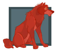 jungle wolf: red by uncertain-certainty