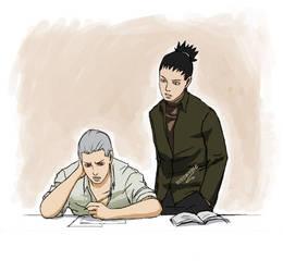 Tutor: Hidan and Shikamaru by mausmouse
