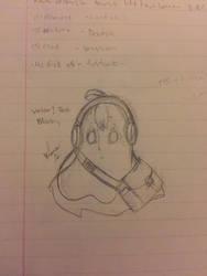 Concept Art #13: Valor!Tale Napstablook by Akuma-Mana61