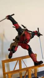 Deadpool statue by publicpatriot