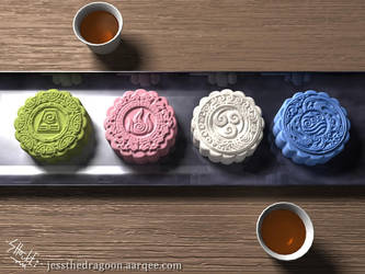 Avatar Snowskin Mooncakes by jessthedragoon