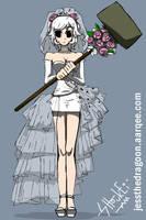 Ramona Flowers in Wedding Dress by jessthedragoon