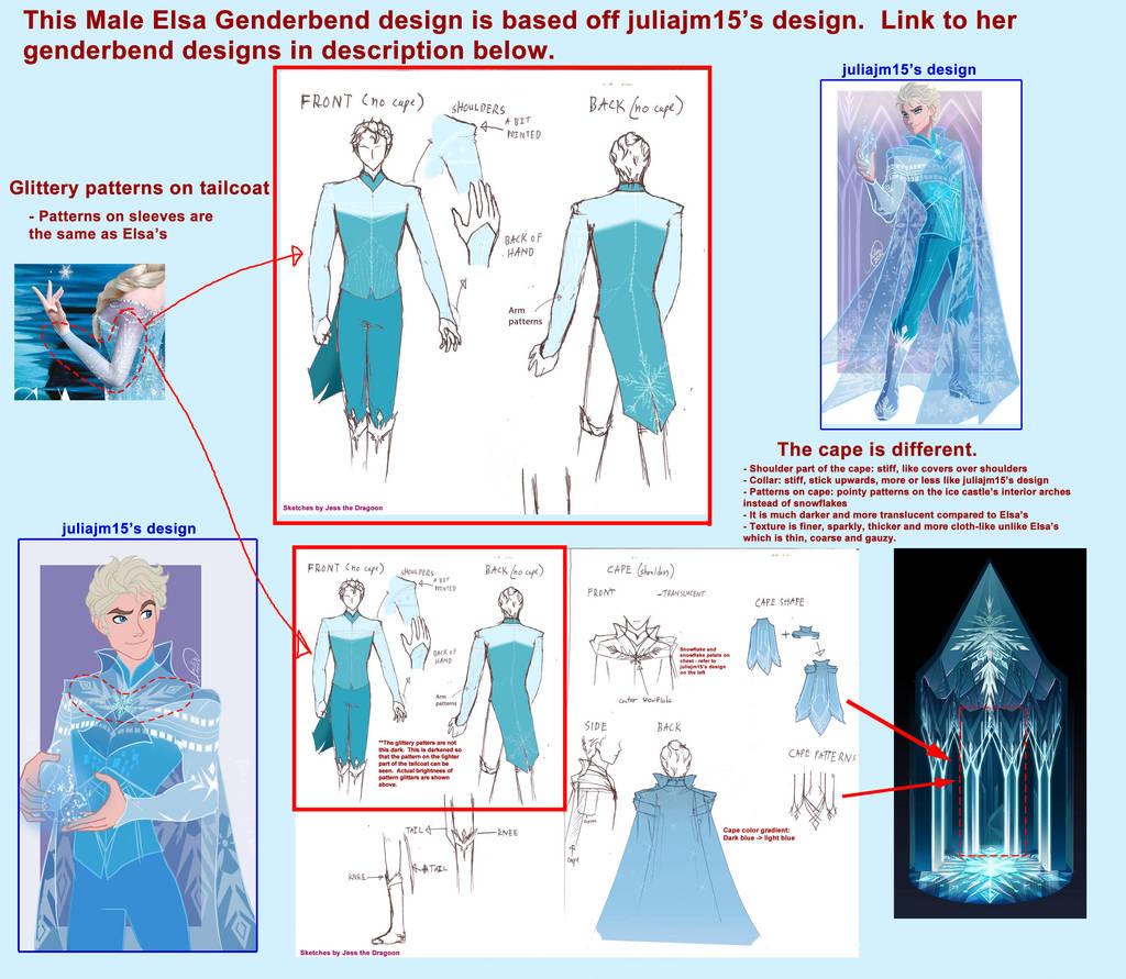 Genderbend Elsa Design Details by jessthedragoon