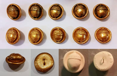 Bilbo Baggins Acorn Buttons by barefootsewing