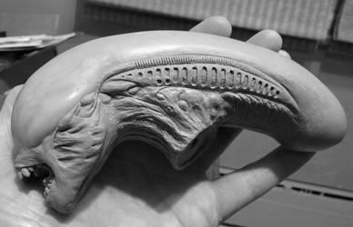Alien 3 Bambi Burster custom head sculpt W.I.P. by Syborwolf