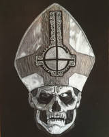 Ghost Papa Emeritus II drawing by Syborwolf