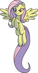 Evil Fluttershy (without Thornbush) by CenCerberon