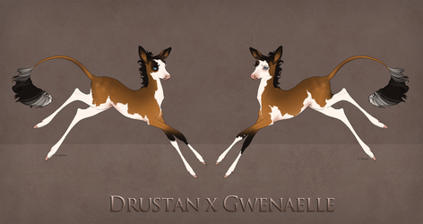 100th Fawn: Drustan x Gwenaelle by Ehetere