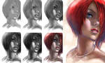 Short hair girl Steps by BillyCanvas